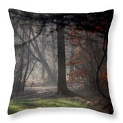 Woods - Dirt Road Photo - The Quiet Place Throw Pillow