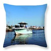 Woods N Water Fishing Team Throw Pillow