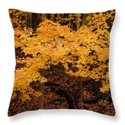 Woods Of Yellow Throw Pillow
