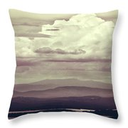 Words Mean More At Night Throw Pillow