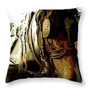 Work Horse Throw Pillow