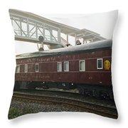 Work Train Throw Pillow