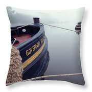 Workboat 1 Throw Pillow
