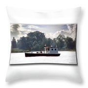 Workboat Throw Pillow