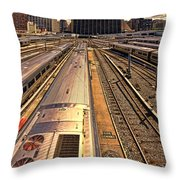 Workin' On The Railroad Throw Pillow