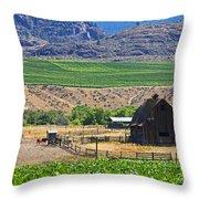 Working Farm Throw Pillow
