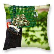 Working For Your Lunch Throw Pillow