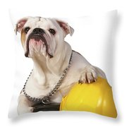 Working Like A Dog Throw Pillow