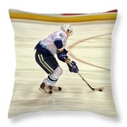 Working The Puck Throw Pillow