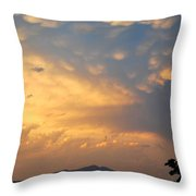 Working Up A Storm Throw Pillow