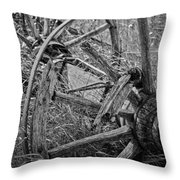 Working Wheels Throw Pillow