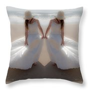 Working With The Wind Throw Pillow