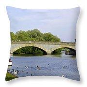 Workman Bridge And The River Avon Throw Pillow