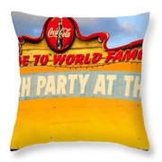 World Famous Party Throw Pillow