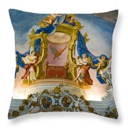 World Heritage Frescoes Of Wieskirche Church In Bavaria Throw Pillow
