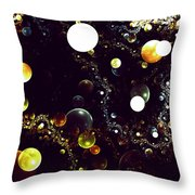 World Of Bubbles Throw Pillow