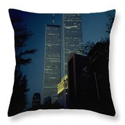 World Trade Center At Dusk Throw Pillow