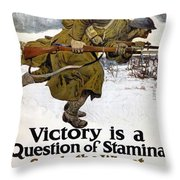 World War I: Poster, 1917 Throw Pillow