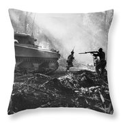 World War II: Bougainville Throw Pillow