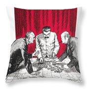 World War II: Cartoon Throw Pillow