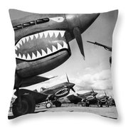 World War II: China, 1943 Throw Pillow