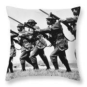 World War II: Training Throw Pillow