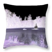 Worlds Smallest Chapel Church Negative Inverted Image Throw Pillow