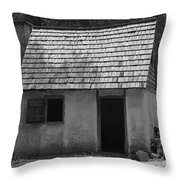 Wormsloe Cottage In Black And White Throw Pillow