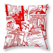Worth Weil Songs Throw Pillow