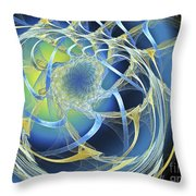 Woven Blue Ribbons Throw Pillow