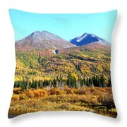 Wrangell Mountains Colors Throw Pillow