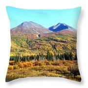 Wrangell Mountains Colors Throw Pillow