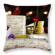 Wrapped Gifts With Tags Throw Pillow