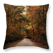 Wrapped In Autumn Throw Pillow