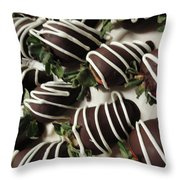 Wrapped In Chocolate Throw Pillow