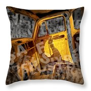 Wreck On The Information Highway Throw Pillow