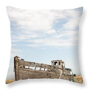 Wrecked Boat Throw Pillow