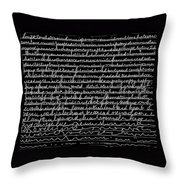 Writing Fades After A While Throw Pillow