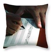 Writing Music Throw Pillow