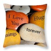 Written In Stone Throw Pillow