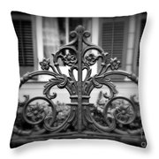 Wrought Iron Detail Throw Pillow by Perry Webster