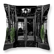 Wrought With Winter Throw Pillow