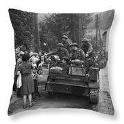 Wwii Liberation Of France Throw Pillow