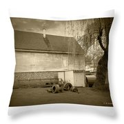 Wye Mill - Sepia Throw Pillow