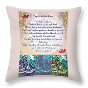 x Judaica Prayer For The State Of Israel Throw Pillow