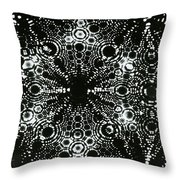 X-ray Diffraction Of Tungsten Tip Throw Pillow