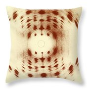 X-ray Diffraction Throw Pillow by Omikron