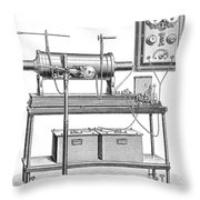 X-ray Equipment With Operating Batteries Throw Pillow