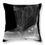 X-ray Of A Childs Light-up Boot Throw Pillow
