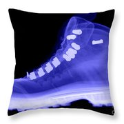 X-ray Of A Hiking Boot Throw Pillow